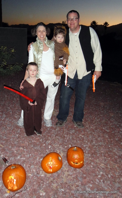 Star Wars Family Costume: Princess Leia, Jedi, Chewy and Hans Solo