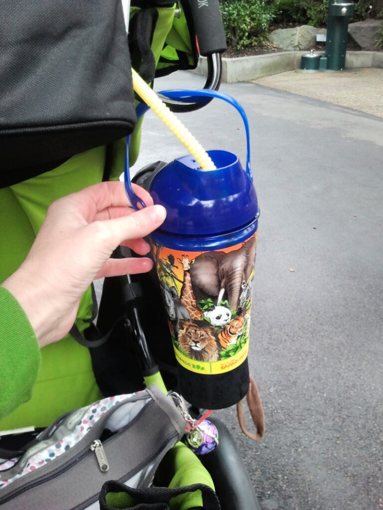 blue refillable cup from the San Diego Zoo