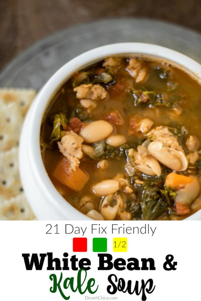 21-day-fix Kale Recipe White Bean and Kale Soup