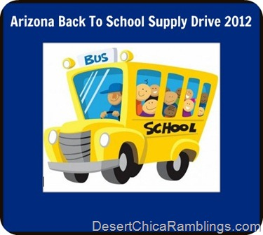 back to school drive Arizona 2012