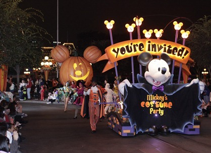 Michey's Halloween Party at Disneyland California