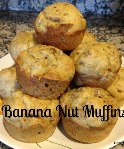 Banana Nut & Banana Blueberry Muffins {Recipe}