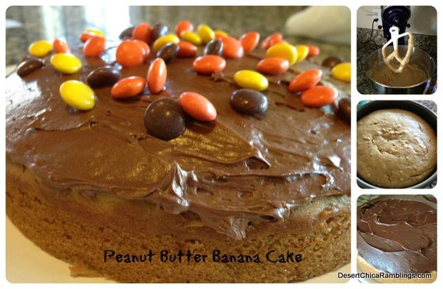 Peanut Butter Banana Cake Collage