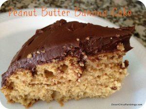Healthier Peanut Butter Banana Cake