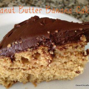 Peanut Butter Banana Cake {A Healthier Recipe}
