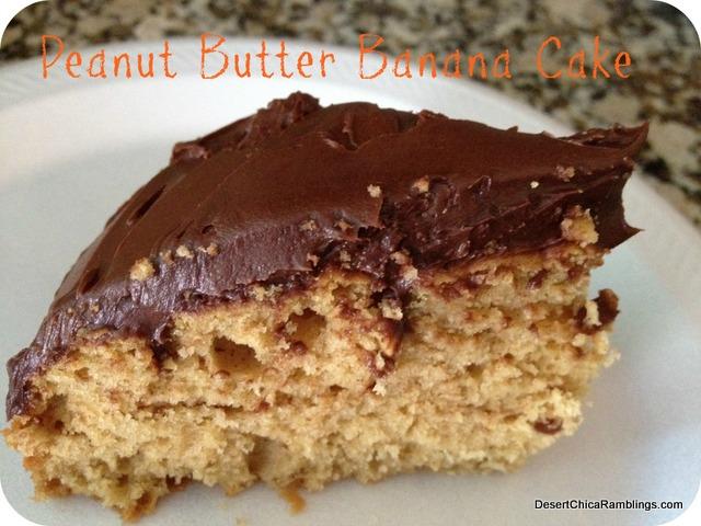 Peanut Butter Banana Cake {A Healthier Recipe} | Desert Chica