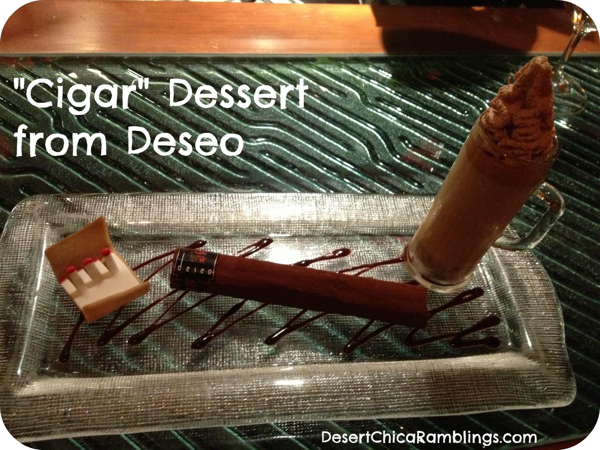 Cigar Dessert Deseo Westin Kierland