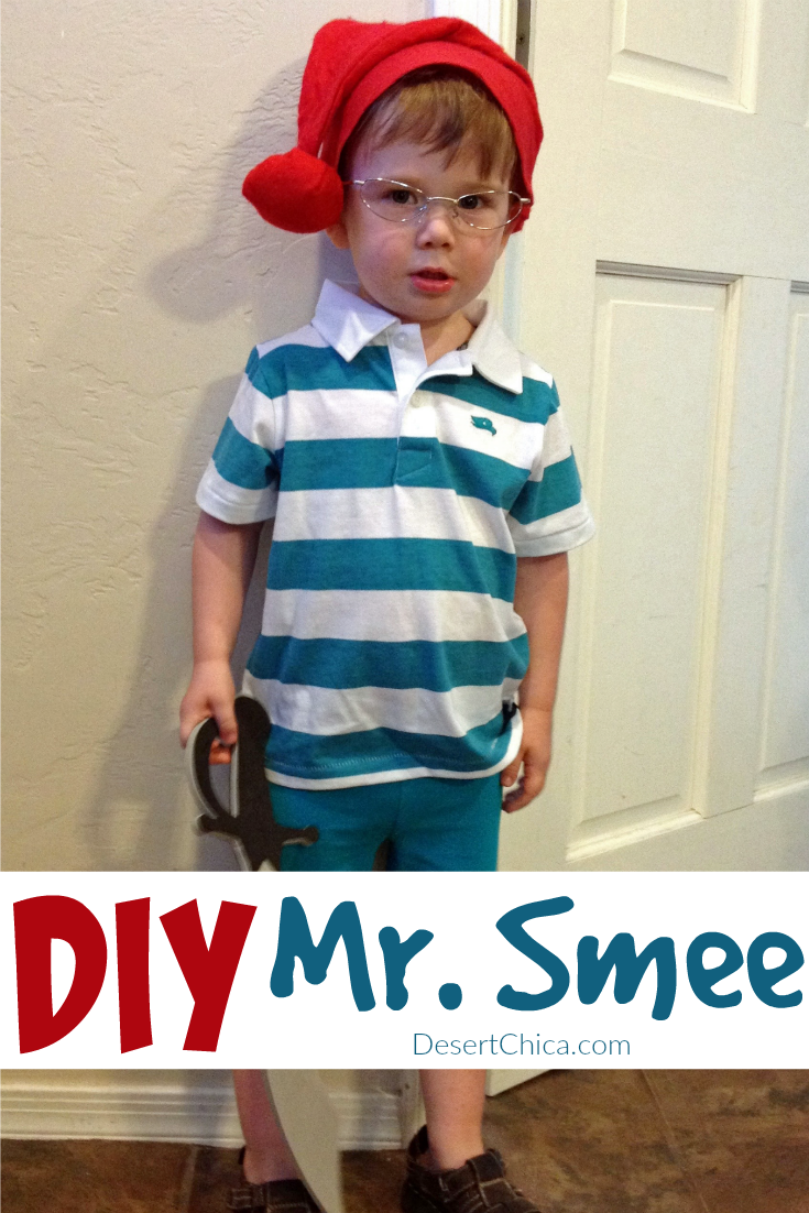 Easy to make book character costumes for reading week include Mr. Smee from Peter Pan.