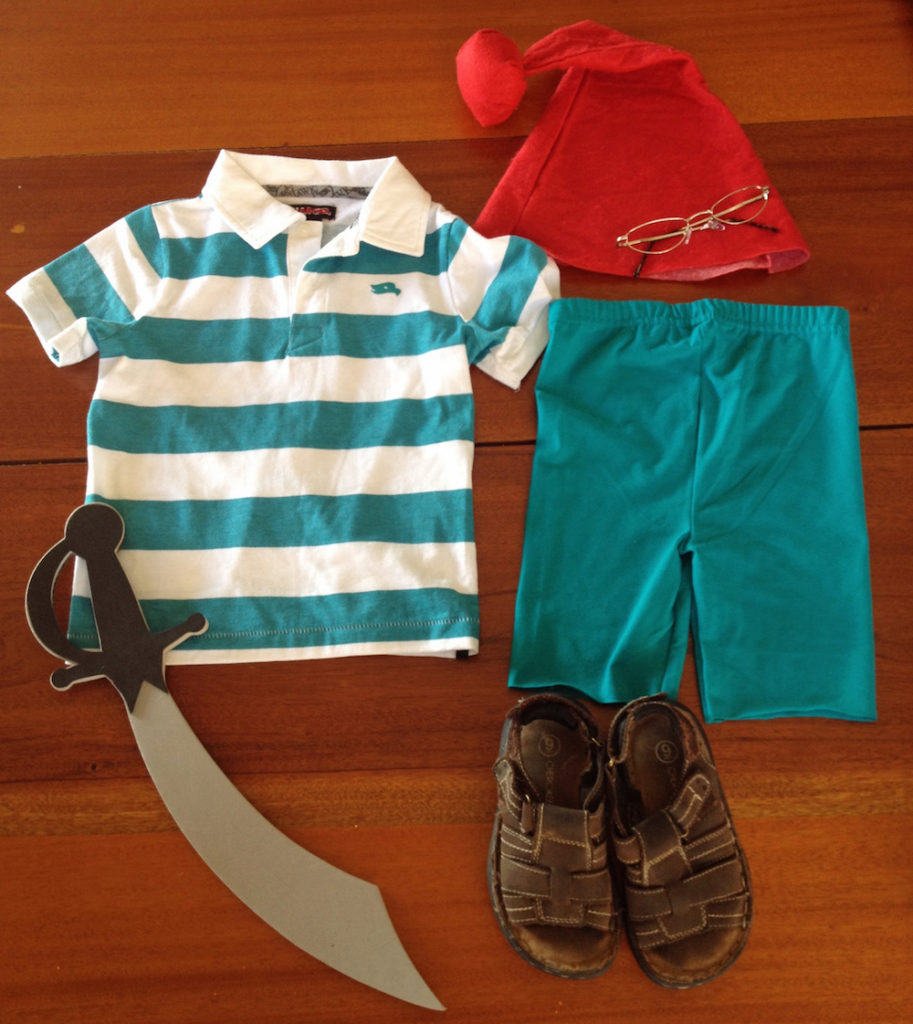 Mr. Smee Costume Materials
