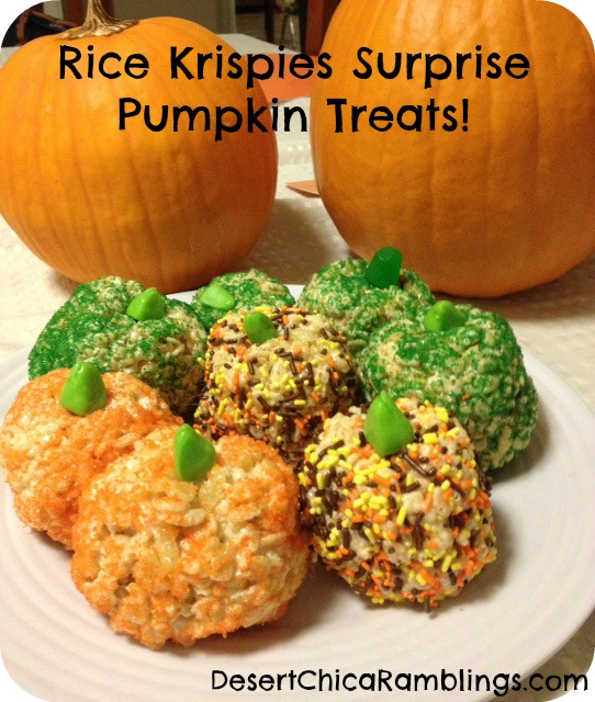 Rice Krispies Surprise Pumpkin Treats