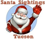 Santa Sightings Tucson Button Small