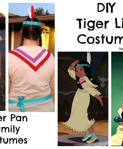 Tiger Lily, the Indian Chief and Tick Tock Croc Costume Details
