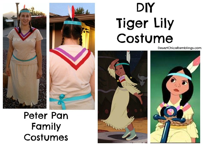 Tiger Lily Peter Pan Family Costume