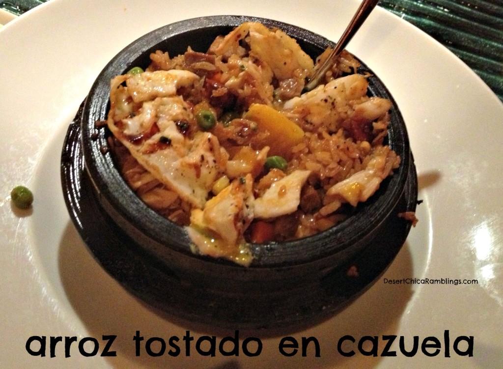 Westin Kierland Deseo arroz tostado en cazuela