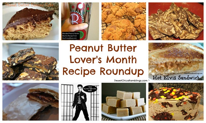 peanut butter Lovers Month Recipe Round Up