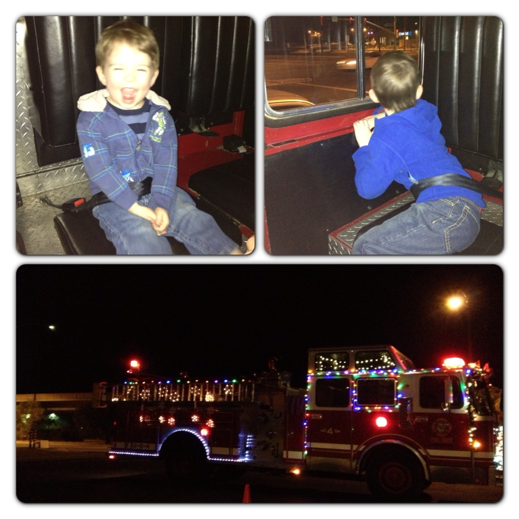 Tucson Fire Truck Holiday Lights