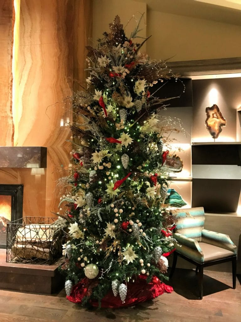 Christmas tree in the lobby at the Little America Hotel