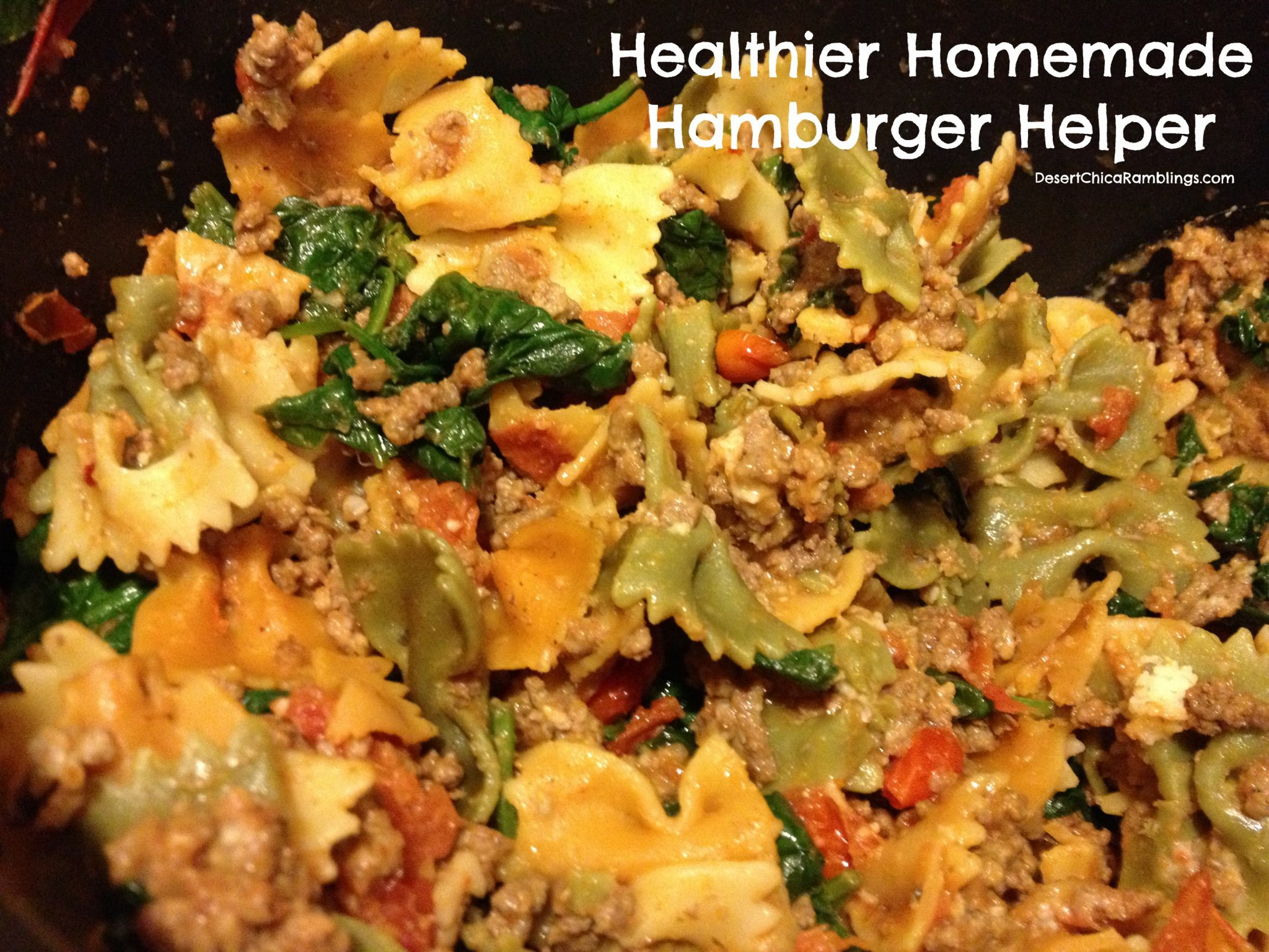 Healthy Home made hamburger Helper Recipe