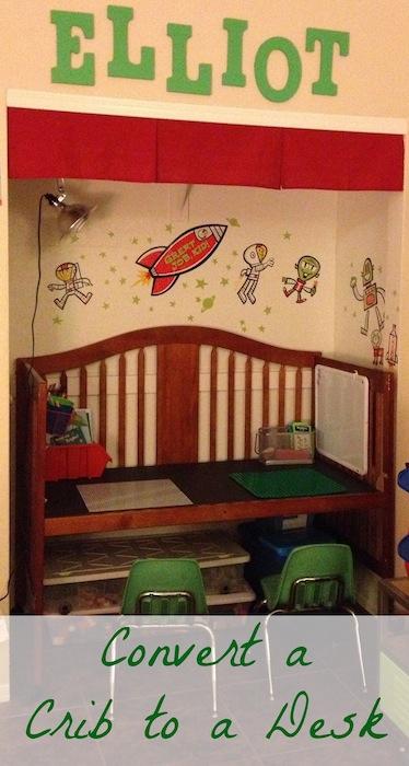 Convert a Crib to a Desk