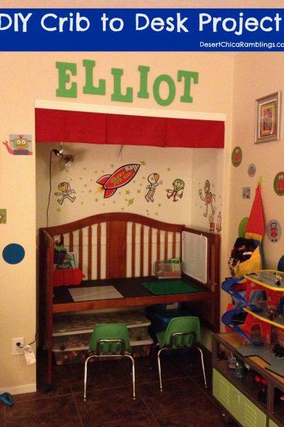 Convert a Crib into a Desk