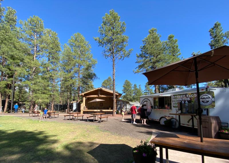 Picnic tables, food trucks at bearizona