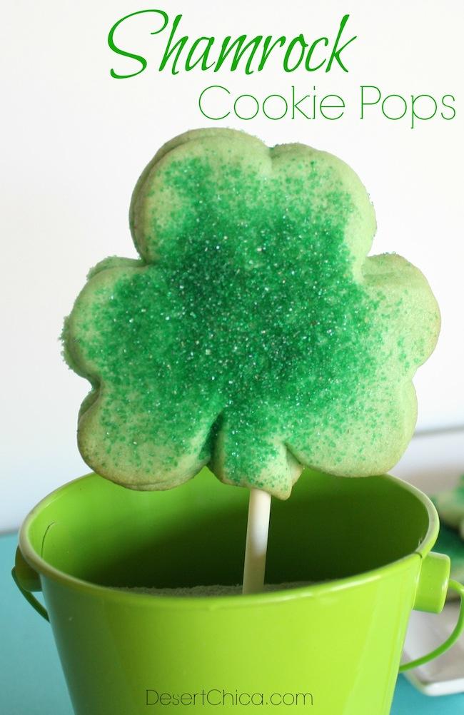 Shamrock Cookie Pops