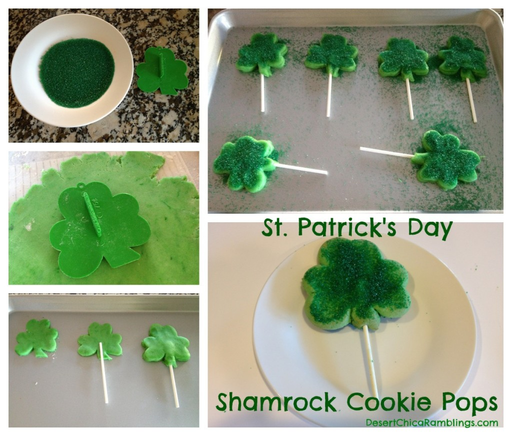 St. Patrick's Day Cookie Pops