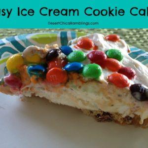 Easy Ice Cream Cookie Cake Recipe