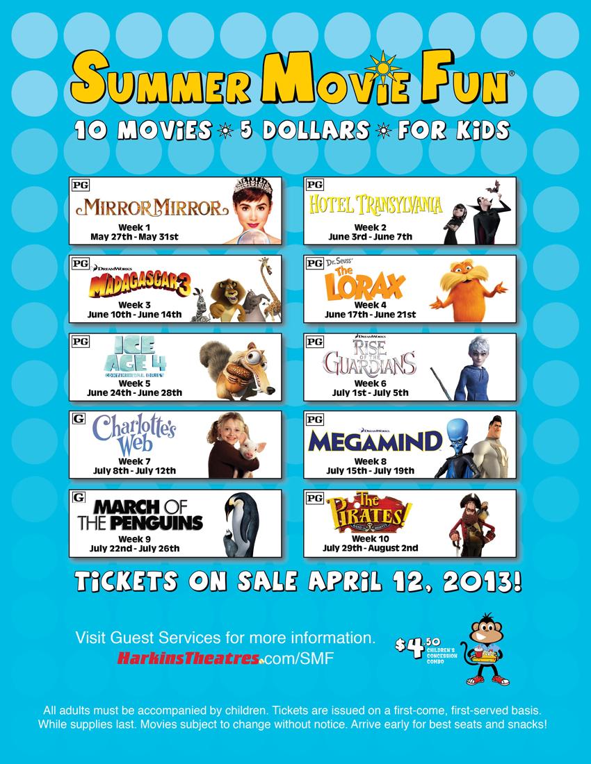 Harkins Summer Movie Program 2012