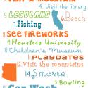 Summer Bucket List Ideas