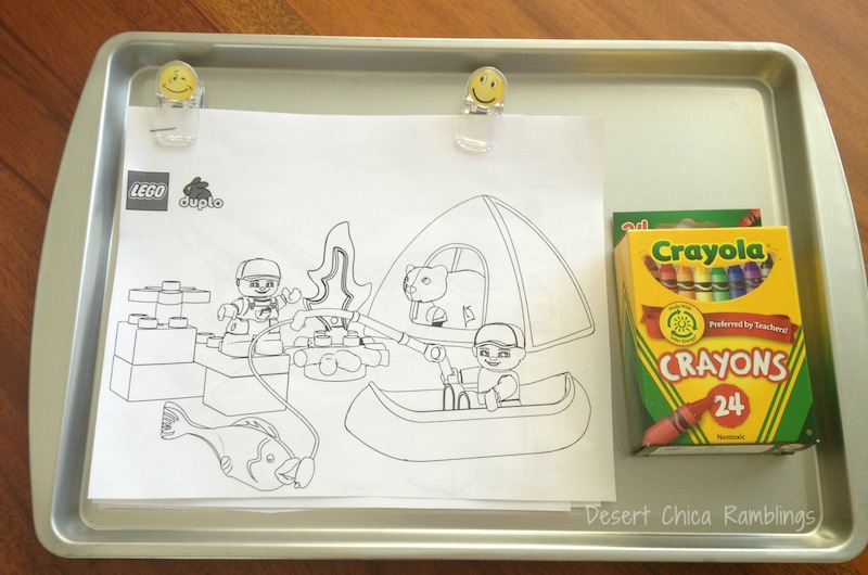 Coloring Pages Travel Activity Tray