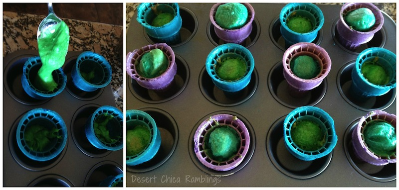 Filling Monsters University Cupcakes