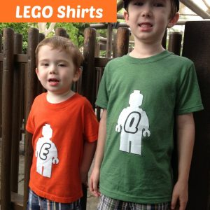 DIY LEGO Shirts {free template}