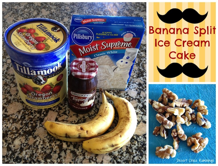 Easy Banana Split Ice Cream Cake
