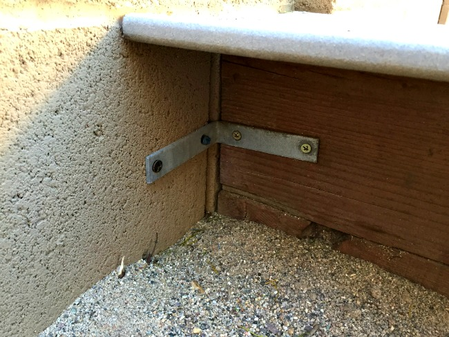 DIY Sandbox Connection to Wall