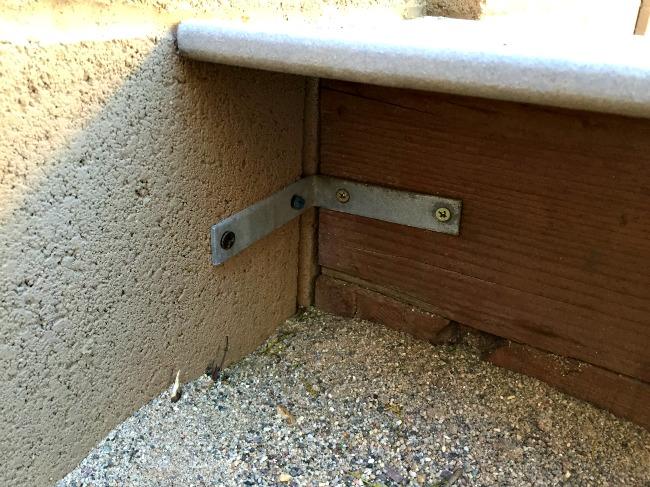 DIY Sandbox Connection to Wall