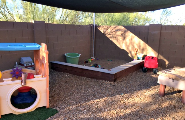 DIY Sandbox Play Yard