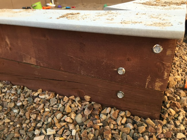DIY Sandbox construction