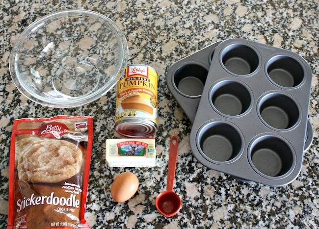 Pumpkin Snickerdoodle Muffin Ingredients