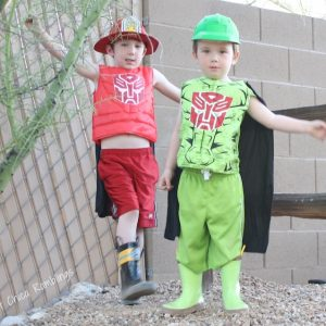 Easy DIY Transformers Rescue Bots Costume