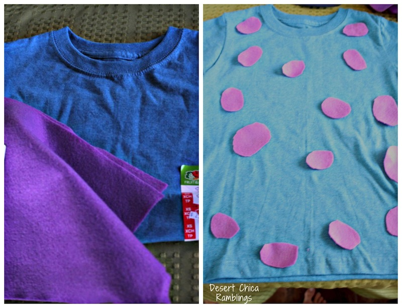 DIY Sulley Shirt Costume & DIY Monsters University Costumes | Desert Chica
