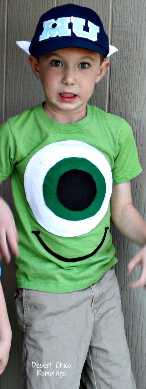 Mike Wazowski DIY Costume  sc 1 st  Desert Chica & DIY Monsters University Costumes | Desert Chica