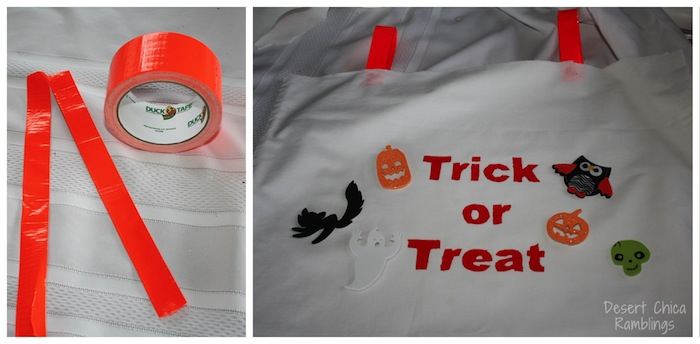 Trick or Treat Costume Design - Duct Tape Straps