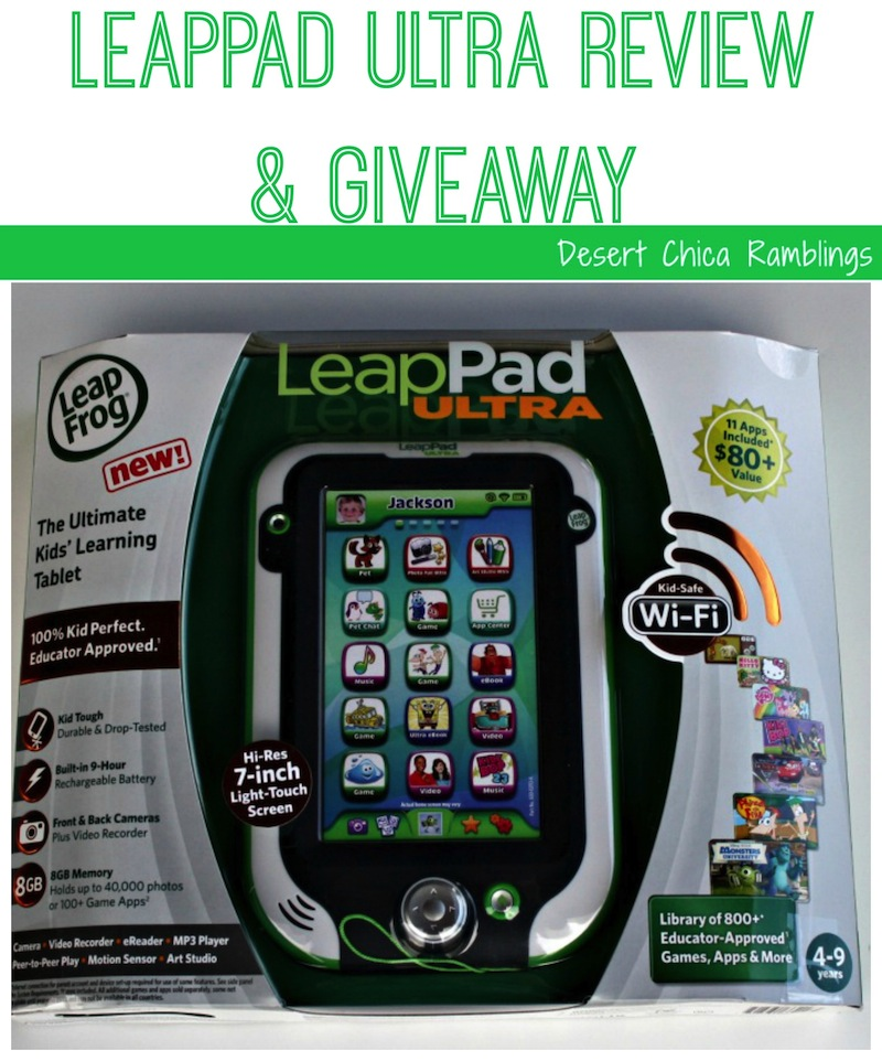 Leappad Ultra Review and Giveaway