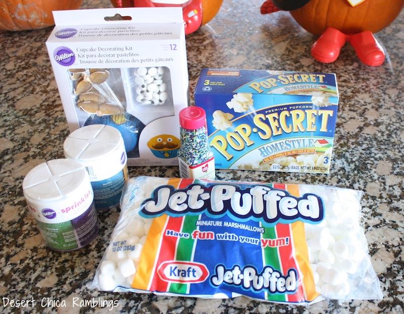 Monster Popcorn Ball supplies