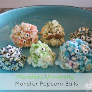 Monsters University Monster Popcorn Balls