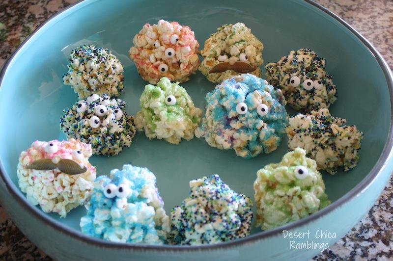 Monsters University Popcorn Ball Treats
