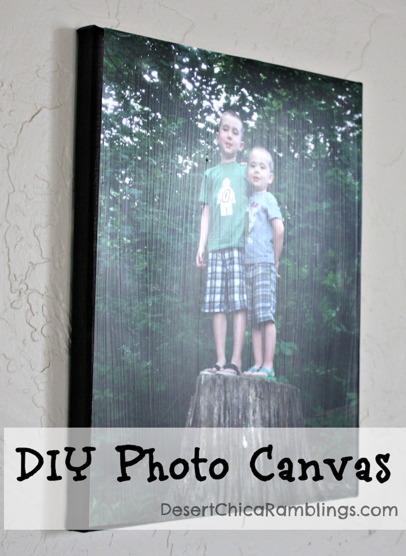 DIY Photo Canvas Gift Idea