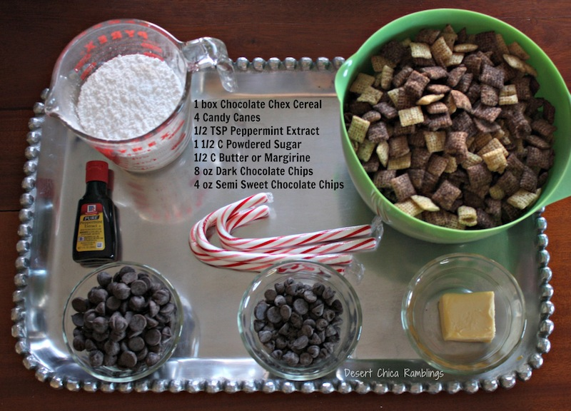 Double Chocolate Peppermint Chex Mix Recipe