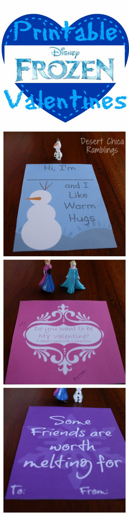 Disney Frozen Printable Valentines